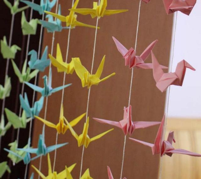 10 Pcslot Diy Handmade Origami Products 10cm Paper Birds For