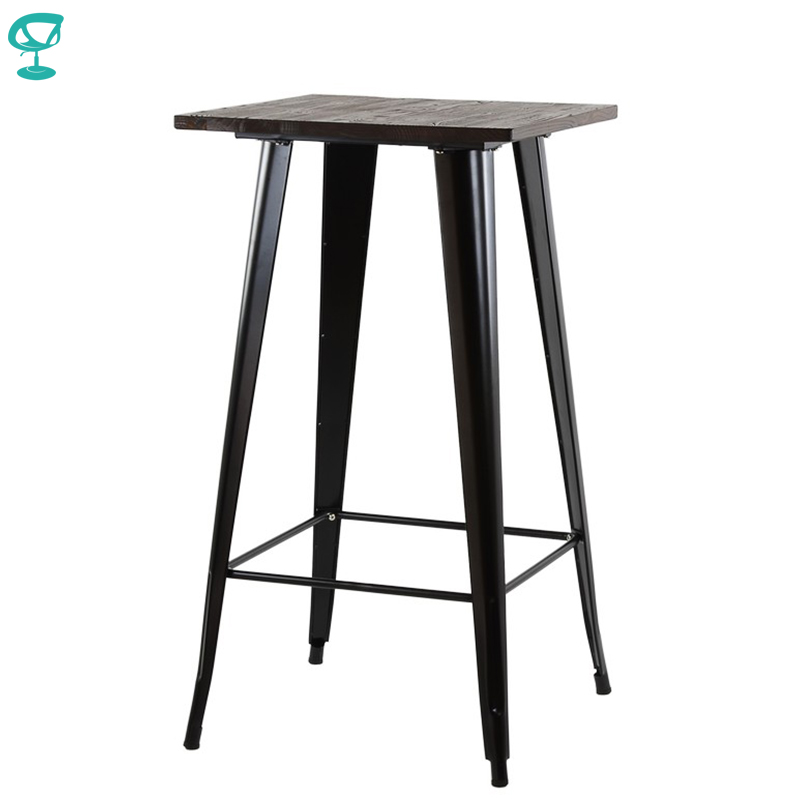 95257 Barneo T-4 Metal Wood High Breakfast Interior Table Bar Table Kitchen Furniture Dining Table Black Free Shipping In Russia
