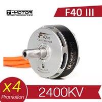4 pces t-motor t f40 iii 2400kv motor sem escova rc zangão fpv racing multi rotor