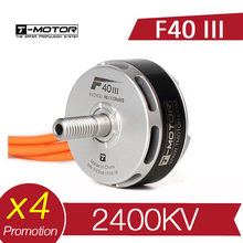 4 pces t motor t f40 iii 2400kv motor sem escova rc zangão fpv racing multi rotor