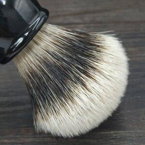 Image 2 - Dscosmetic hak borsuka żel do włosów wskazówka 3 węzłów pędzel do golenia czarny żywica uchwyt