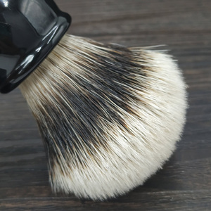 Image 2 - dscosmetic hook badger hair gel tip 3 knots shaving brush black resin handle