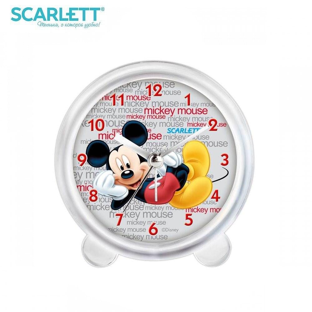 Alarm Clock Scarlett SC-ACD12M 4 5 inch double bell alarm clocks metal silent sweep loud alarm kids table clock 4 5 inch bell night light large number alarm cloc