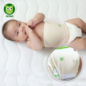KEYING Adjustable Baby Bellyband Stripe Cotton Belly Button Protector Band Soft Navel Guard Girth Belt Baby Belly Bands Bibs