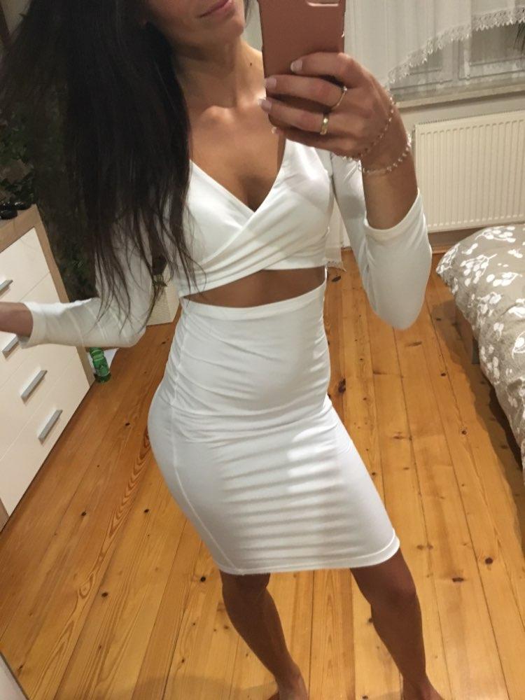Sexy Bodycon Bandage Dress Elegant Long Sleeve Elastic Warm Party Dresses White 2018 Sexy Midi Club Dress Sheath Clubwear M0522
