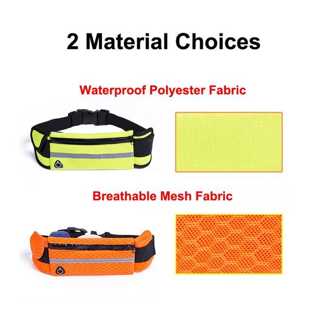 NEWBOLER Running Waist Bag Waterproof Sport Fanny Packs Phone Holder Fitness Cycling Belt Bag For Men Women Pink GYM Accessories 5