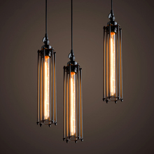 American country Vintage industrial creative restaurant bar Pendant Light Iron flute single head Home decoration lamp E27