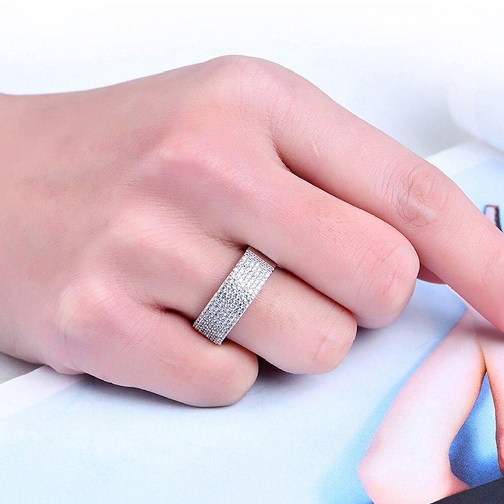 Fashion Jewelry Men Women Shining Cubic Zirconia CZ Wedding ...
