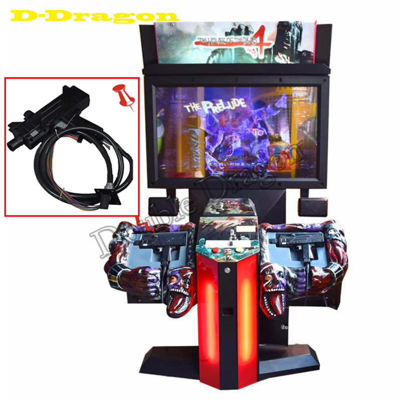 2Pcs Plastic Gun Parts for Coin Operated Amusement Equipment The House Of Dead 4 Gun Shooting