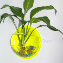 Fish Tank Wall Mounted Bowl Aquarium Wall Hanging Plant Pot Home Decoration