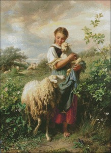 Image 2 - The Shepherdess   Counted Cross Stitch Kits   DIY Handmade Needlework for Embroidery 14 ct Cross Stitch Sets DMC Color