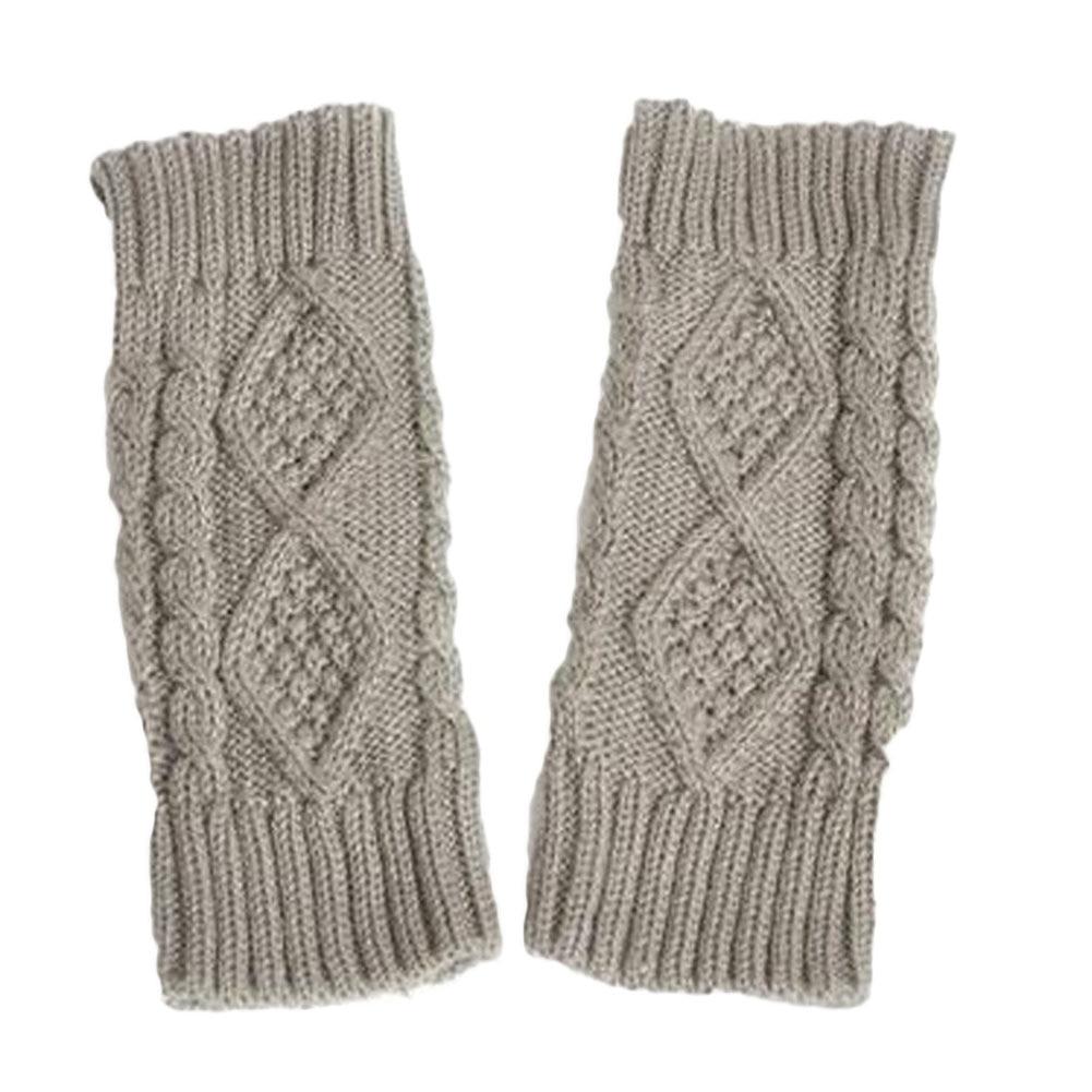 Armstulpen Der GüNstigste Preis 1 Paar Warme Winter Handschuhe Frauen Doppelseitige Hanf Knitting Wolle Halbfingerhandschuhe Damen Handschuhe Halb-fing Liebt Handschuhe SorgfäLtige FäRbeprozesse