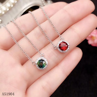 KJJEAXCMY boutique jewelry 925 sterling silver inlaid natural garnet gemstone female necklace pendant support test