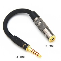 HIFI 4.4MM Balanced Headphone Adapter Audio Cable 4.4 to 3.5mm 2.5mm 6.35mm XLR 4 Pin Male to Female Angle