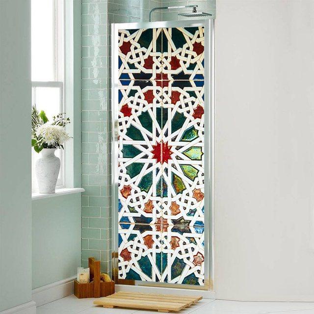 77x200 cm 3D Kleurrijke Muur Deur Koelkast Stickers Waterdichte PVC ...