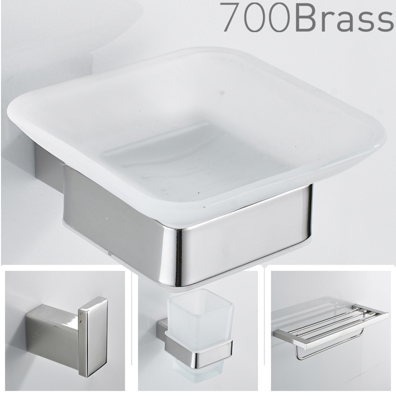 stainless steel bathroom accessories towel bar double towel bar towel ring soap dish toilet paper holder all in one ss800