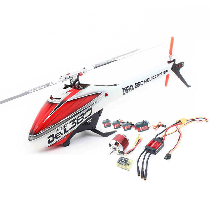 Original ALZRC Devil 380 FAST RC Helicopter Super Combo For RC Toy Models alzrc devil 450 helicopter parts 450 fast fiberglass shell