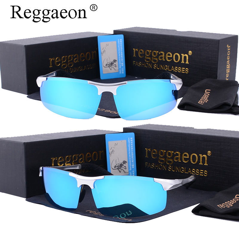 Reggaeon New Top quality HD Polarized male eye protector sunglasses fashion Brand design women driving Aluminum-Magnesium Frame