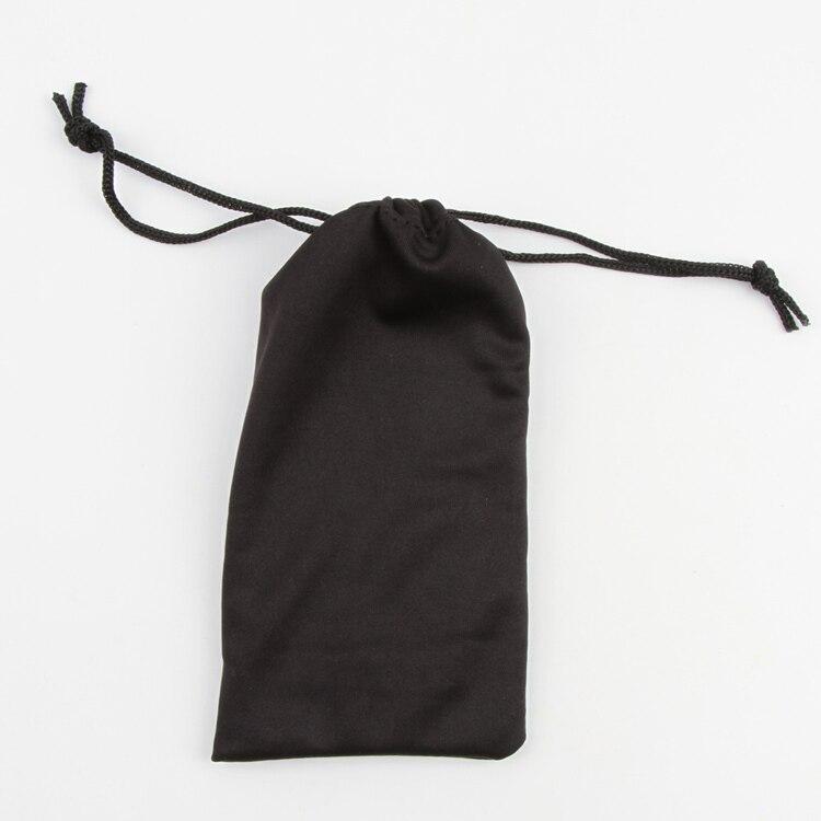 1 Stück Polyester-beutel Für Sonnenbrille Weicher Tuch-staubbeutel Optische Gläser Tragen Schwarz Bag Drop Shipping BüGeln Nicht