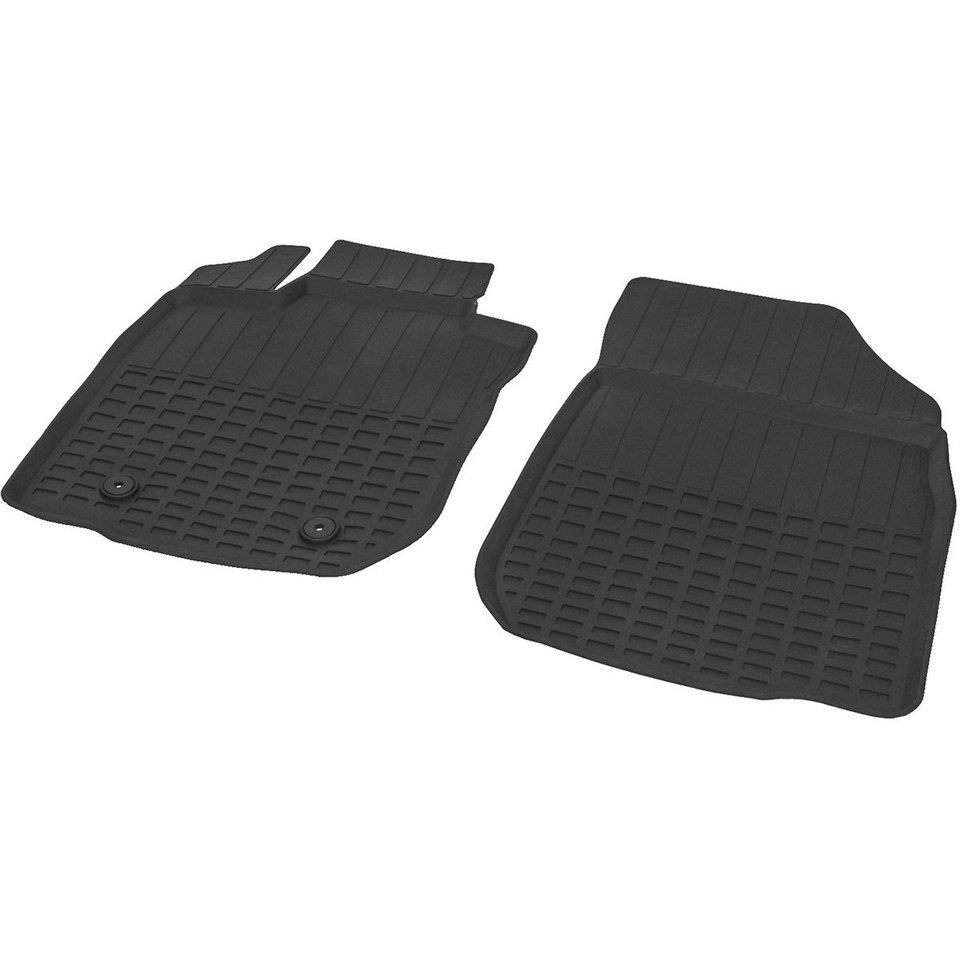 For Lada Largus 2012-2019 FRONT rubber floor mats into saloon 2 pcs/set Rival 66003001 3d floor mats for lada largus element f620250e1