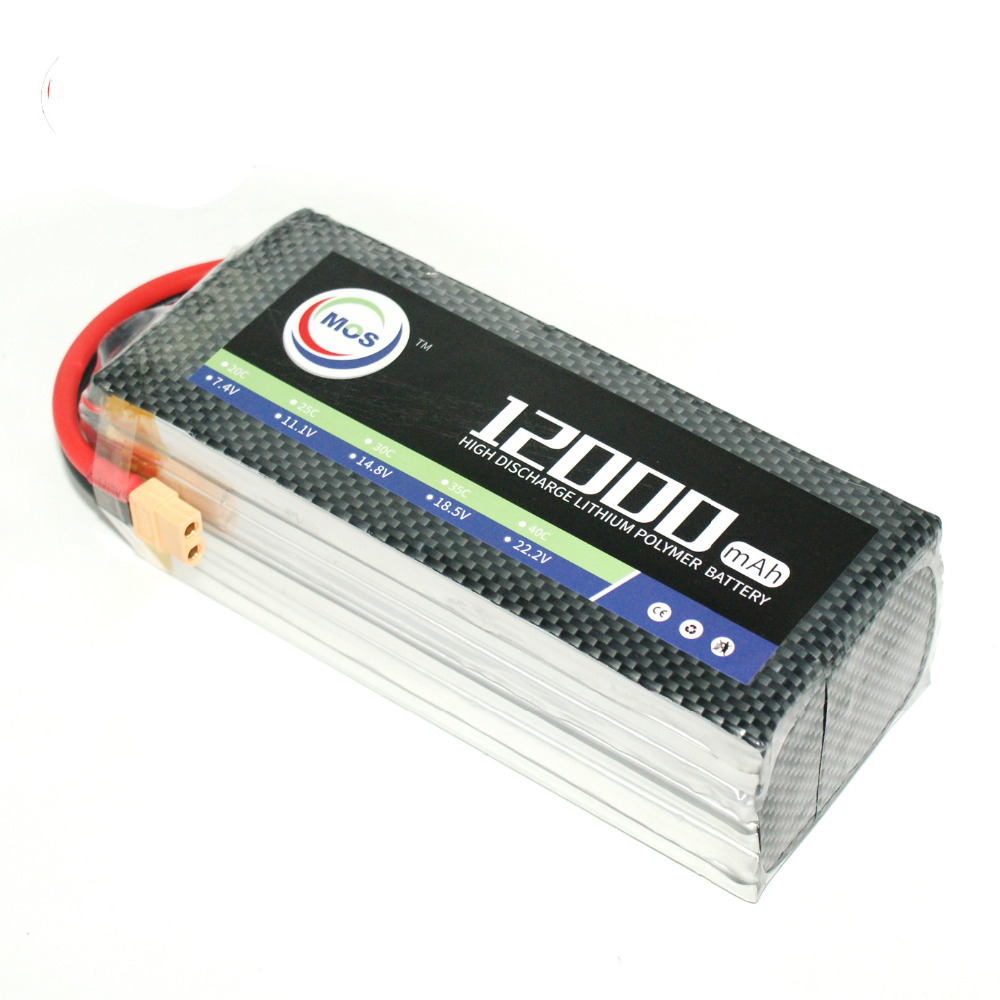 Lipo Battery 6S 22.2V 12000mAh 25C For RC Aircraft Car Quadcopter Drone Helicopter Airplane Remote Control Toys Li-ion Battery mos 5s rc lipo battery 18 5v 25c 16000mah for rc aircraft car drones boat helicopter quadcopter airplane 5s li polymer batteria