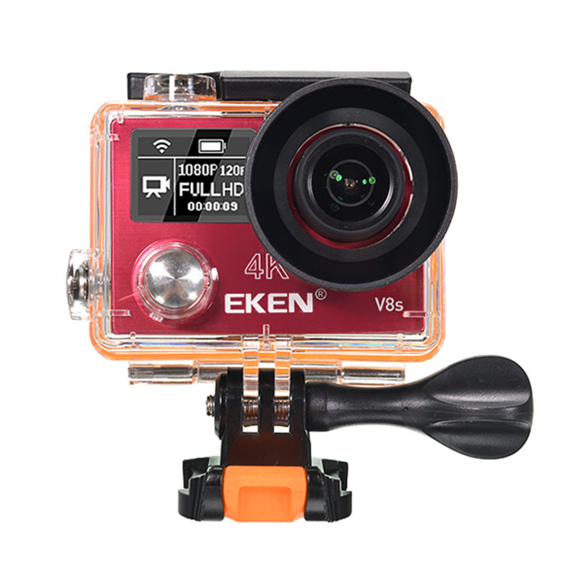 EKEN V8s Action Camera Real 4K Ultra HD 2.4G Remote WiFi Control 170 Degree Wide Angle Sport DV Cameras For RC Drone 2017 original eken h9r sports action camera 4k ultra hd 2 4g remote wifi 170 degree wide angle