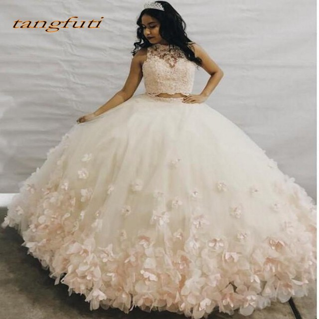 3bbde23103f Quinceanera Dresses Ball Gown Long Two 2 Pieces Prom Party Online Princess  for Prom Sweet Sixteen 16 Dress vestidos de 15 anos