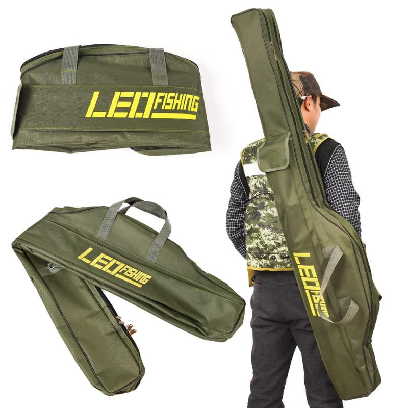 1.5m Fishing Bags Portable Folding Fishing Rod Case Bag Carrier Canvas Fishing Pole Tool Storage Bag Fishing Gear Tackle Case