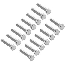 UXCELL 15Pcs Bolts M8 Thread 50/60mm 304 Stainless Steel Hex Head Screws Fastener For Home Office Appliance Ship Assembly
