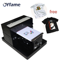 OYfame A3 Flatbed Printer T shirt DTG Printing Machine For Dark Light Color DIY Flatbed Printer for T shirts Printing