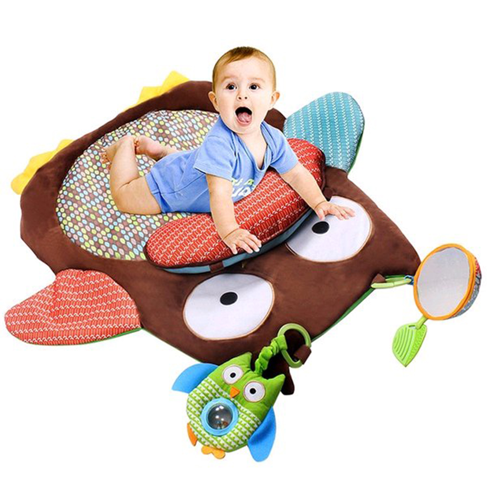 Cute Cartoon Owl Baby Infant Tummy Time Crawling Play Mat Kids  Carpet Rugs Game Pad Pillow Baby Activity Mat Educational Toy