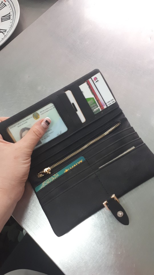 2019 Latest Women leather Leaf Long Wallet Female Coin Purse Change Clasp Purse Money Bag Card Holders Womens Wallets And Purses photo review