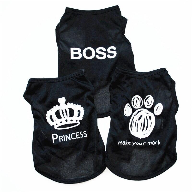 Boss Dog Roupa Pet poletna oblačila Pas majica Chihuahua Poletje za - Izdelki za hišne ljubljenčke