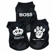 Boss Dog Roupa Pet Летняя одежда Собака Tshirt Chihuahua Одежда Лето для маленьких собак Breathable Полиесты Кошки Жилет Одежда E