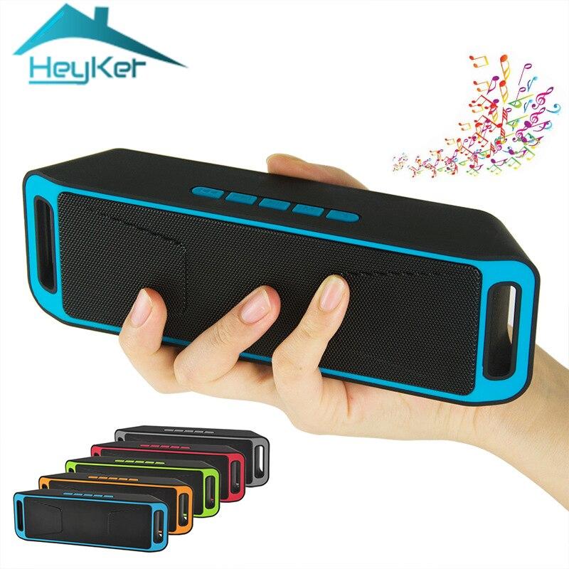 Più nuovo Mini Portatile Vero Altoparlante Senza Fili del Bluetooth USB Flash Radio FM Stereo Super Bass MP3 Player Boombox caixa de som xaomi