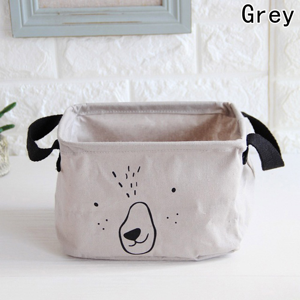 2018 1 pc Lovely Cotton Linen Desktop Makeup Jewelry Cosmetic Storage Box organizer Square Toy Finishing Waterproof bags