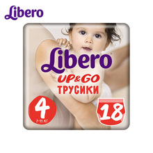 Трусики-подгузники Libero Up&Go Size 4 (7-11 кг), 18 шт.