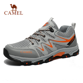 CAMEL Men Women Outdoor Mesh Hiking Shoes Breathable Non-slip Durable Travel Hiking Trekking Trail Shoes