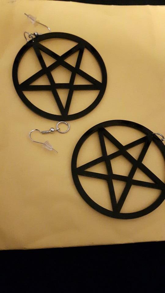 Oversized Pentagram Earrings photo review