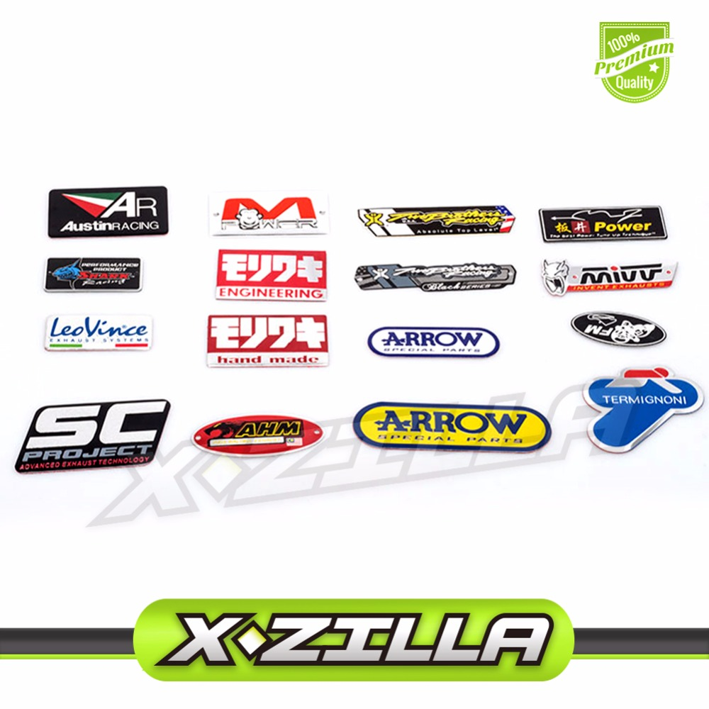 3D Aluminium Heat-resistant Motorcycle Exhaust Pipes Decal Sticker Cool Personality Scorpio Yoshimura Universal Stickers