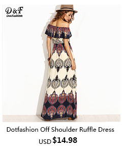 Dotfashion Plunge V Neckline Frill Blouson Full Length Dress Women ... 2712b0f86