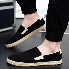 c5e20fa5 2018 moda verano hombres zapatos deslizamiento en los zapatos casuales para hombre  joven lona transpirable mocasines