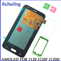 Super AMOLED For Samsung Galaxy J120 J120F LCD display touch screen J1 J120DS J120G J120M J120H pantalla replacement digitizer