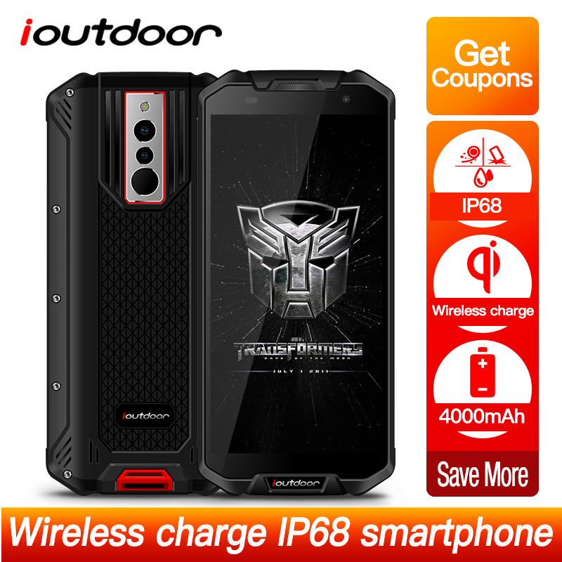IP68 ioutdoor Polar 3 Smartphone 4G 5.5 18:9 Android 8.1 3GB+32GB Face ID Wireless Charging Waterproof Mobile Phone NFC 4000mAh