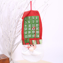 Merry Christmas Xmas Tree Decorations Santa Claus Calendar Advent Ornament Hanging Banner Christmas Decorations For Home(China)