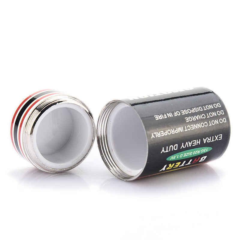 HENGHOME kreatywny przechowywanie baterii pudełka ukryte monety na monety pojemnik na baterie na sekretne bezpieczne pudełko na pigułki