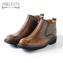Prelesty Steampunk Brand Men Shoes Autumn Winter Men Boots Vintage Style Male Motorcycle Shoes High-Cut Men Casual Shoes