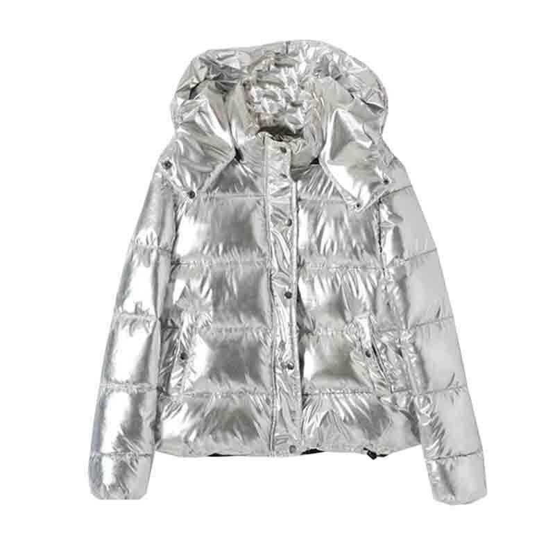 2019 Thicken Hooded Winter Jacket Women   Parka   Coat Casual silver   Parka   Warm Plus Size Jaqueta Feminina Warm Large Size Coat MY10