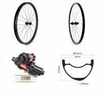 38.5*27 Asymmetry mtb wheels 27.5er carbon tubeless mtb wheelset 650B AM/DH carbon carbon mtb 27.5 wheels