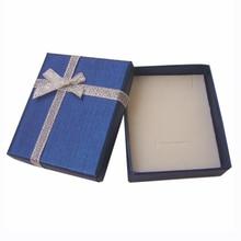 """24 יחידות קופסא מתנת נייר עם ספוג לבן 7x8x2.5 ס""""מ טבעת תיבת תכשיטי תצוגת שרשרת תכשיטים אחסון עגיל אריזה"""